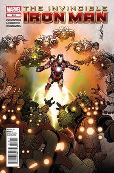 Invincible Iron Man # 512 by Salvador Larroca