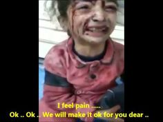 A little injured #Syria|n girl who is afraid of cutting her new pyjama