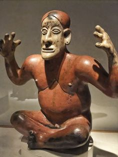 Storyteller figure Jalisco Ameca style Ameca Valley Jalisco Mexico 100-800 CE Ceramic and pigment, via Flickr.