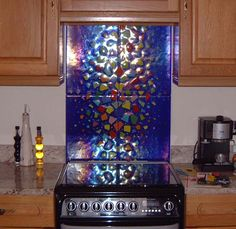 splashbacks and wall art made from fused glass Fused Glass Art, Backsplash, Glass Splashbacks, Objects, Wall Art, House Ideas, Inspiration, Glasses, Nice