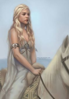 Game of Thrones - Daenerys on Silver by Qinni | Qing-Han *