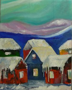 Aurora alley / oil on canvas Winter, Aurora, Oil On Canvas, Painting, Art, Art Background, Painted Canvas, Painting Art, Kunst