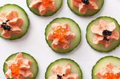 Smoked Salmon with Caviar on Cucumber... perfect appetizer