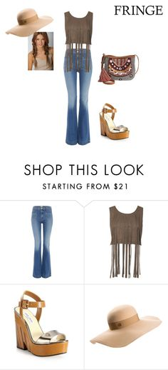 """""""Festival Fringe"""" by kate-loves-elmo ❤ liked on Polyvore featuring Hudson Jeans, Jimmy Choo, Maison Michel and American Rag Cie Music Festival Fashion, Festival Style, American Rag, Hudson Jeans, Jimmy Choo, Elmo, Casual, Polyvore, Shopping"""