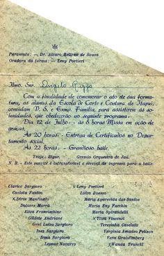 https://flic.kr/p/KEKSE | Convite Corte e Costura 1947/ Parte Interna / Cortesia Leda Aparecida Rizzo Coelho | Convite de formatura da Turma de Corte e COstura de 1947 A foto dessa formatura também faz parte do acervo deste Museu