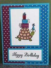Stampin Up Card Happy Birthday Card Turtle