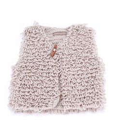 Peppercorn Kids Beige Shaggy Vest//