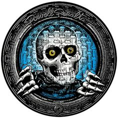 "Powell Peralta Pool Light Ripper 10"" Sticker"