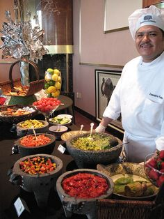 Salsa and Guacamole Bar in the Atrium at Executive Caterers at Landerhaven by Executive Caterers, via Flickr