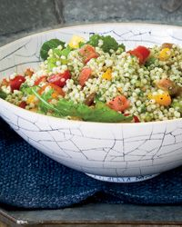 Israeli Couscous and Tomato Salad with Arugula Pesto Recipe on Food & Wine