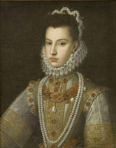 Alonso Sánchez Coello (Benifairó de les Valls, cap a 1531 – Madrid, 1588) - Retrat de la infanta Caterina Miquela. Cap a 1582-1584 | Museu Nacional d'Art de Catalunya
