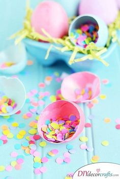 Eggs Filled with Confetti - Shower Everything in Colours