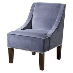Hudson Upholstered Accent Chair - Slate Velvet
