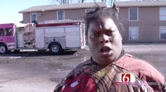 A fire at an apartment complex in Oklahoma on Sunday left more than 100 people without power. But it's one of the residents who is making headlines for her animated interview that h...