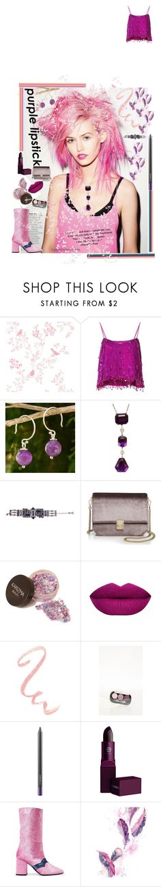 """""""Purplexed"""" by archsan ❤ liked on Polyvore featuring beauty, Ashish, NOVICA, Christian Dior, KC Jagger, MAC Cosmetics, Lipstick Queen, MR by Man Repeller, Pink and purple"""