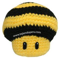 Tutorial: Mario mushrooms tejidos a crochet (amigurumi)