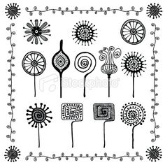 View Vector Art of Floral Doodles Ornaments. Find premium, high-resolution photos at Getty Images. Floral Doodle, Art Floral, Dandelion Wall Decal, Flower Doodles, Doodle Flowers, Doodles Zentangles, Doodle Designs, Floral Illustrations, Free Vector Art
