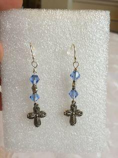 05f6b63ed Cross Earrings by QueenCitySparkles on Etsy Cross Earrings, Beautiful  Hands, Mice, Computer Mouse