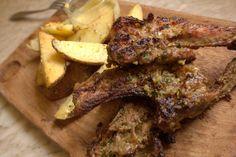 Viande grillée au pesto