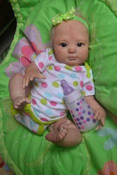 OOAK Reborn baby girl with 3d skin Riley  art doll artist newborn