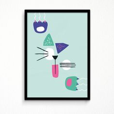 PICATTO Kidsposter with Picasso Cat. designed by: Rikkes bix