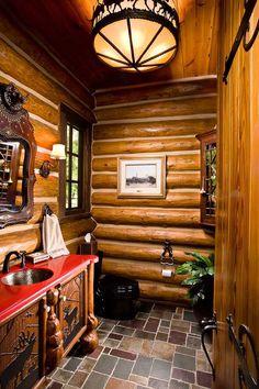 Western Rustic cabin bathroom