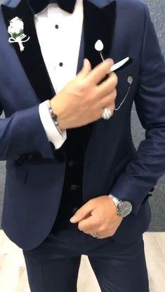 Formal suits for men in black Best formal suits for men in grey Formal suits men colour combination Wedding Dress Men, Cool Mens Wedding Suits, Wedding Suits For Groom, Wedding Outfits For Men, Mens Wedding Suits Navy, Man Suit Wedding, Prom Suits For Men, Wedding Tuxedos, Mens Fashion Suits
