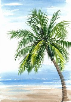 Tropical Resort View Seashore Coconut Palm Stock Illustration 412270375 Tropical Resort View Seashore Coconut Palm Stock Illustration 412270375 BARBIE B bcbeyer BEACH CHRISTMAS Tropical Resort View With The Seashore […] painting for beginners Beach Scene Painting, Tree Watercolor Painting, Beach Watercolor, Watercolor Landscape, Landscape Paintings, Palm Tree Paintings, Palm Tree Art, Palm Tree Drawing, Beach Drawing