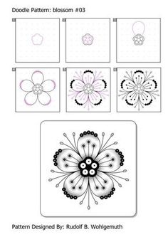 #zendoodle #zendoodle pattern #blossom #flowers #creative #kreativ #zentangle #pattern #step by step