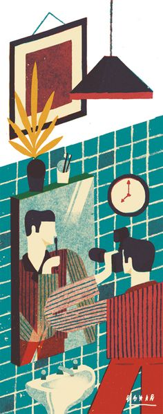 'We should forget the idea that we forget anything' Illustration for the October issue of WIRED UK.www.daviddoran.co.uk
