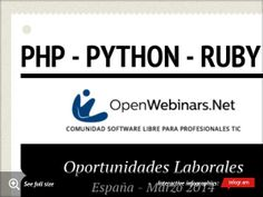 Infographic: Php - python - ruby -