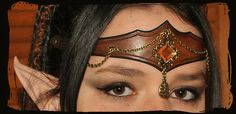 elven leather tiara by ~Lagueuse