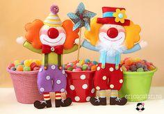 Palhacinhos para o aniversário do Miguel by Ei menina! - Érica Catarina, via Flickr