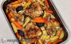 Tepsis csirkecomb vele sült zöldségekkel recept fotóval Kung Pao Chicken, Chicken Wings, Dinner Recipes, Turkey, Lunch, Dishes, Ethnic Recipes, Minden, Food