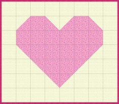 EQ Quilt Plan Heart Quilt Squares