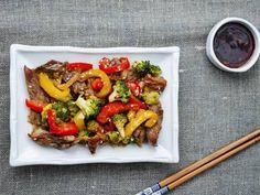 This delicious beef stir-fry boasts a combination of bold Asian flavors, fresh ginger, and toasted sesame seeds for a quick and easy weeknight meal.