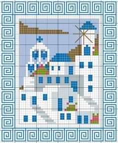 Χειροτεχνήματα: Οι Κυκλάδες για κέντημα / Cross stitch patterns of the Cyclades Islands of Greece