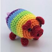 This amigurumi pig is fun and easy. I love the rainbow design. Fabrizio, the Rainbow Pig - Media - Crochet Me
