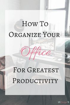 An unorganized or cluttered office causes us unnecessary stress, distraction, and frustration. If you want to be your most productive self, especially when you are working in that space, you need to organize your office. Office Organization At Work, Organization Hacks, Office Ideas, Office Hacks, Desk Ideas, Organizing Ideas For Office, Organising Hacks, Organized Office, Office Setup