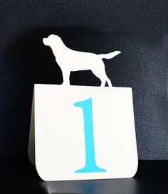 Custom Dog Table Numbers 1 to 25 Wedding by tiffzippy on Etsy, $65.25
