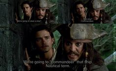 Pirates of the Caribbean: Curse of the Black Pearl (A grammar lesson from dear old Cap'n Jack)
