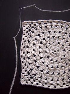 VMSomⒶ KOPPA: Valkoinen kukkaympyräpaita - variaatio