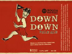 Bogus Brewing Down Down Label