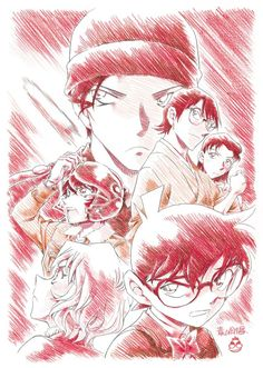 Detective Conan : Hiiro no Dangan sort un film - le Dojo Manga Conan Movie, Detektif Conan, Dc Anime, Manga Anime, Illustrations, Illustration Art, Otaku, Detective Conan Wallpapers, Gosho Aoyama