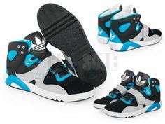 Mens Adidas Roundhouse Mid Black Turquoise Blue