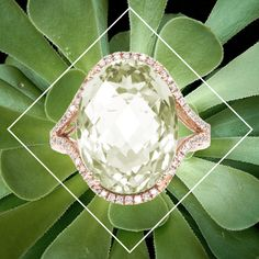 Gorgeous green for Spring. #greenamethyst #jewelry #jewels #jewelrygram #finejewelry #gold #ring #statement #cocktailring #estenza #luxury