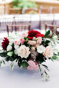 Denver Colorado wedding venue - Villa Parker - centerpiece, florals