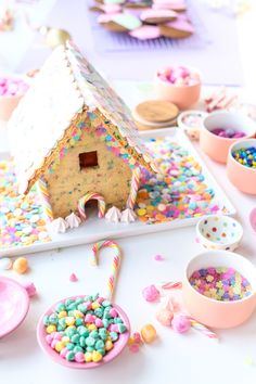 "Funfetti ""Gingerbread"" House"