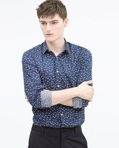 ZARA - SALE - Dolphin print shirt