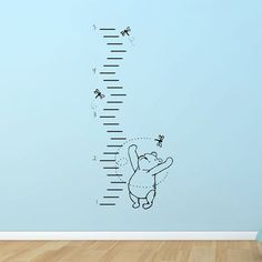 Classic Winnie the Pooh growth chart vinyl wall decal by GrabersGraphics on Etsy Winnie The Pooh Nursery, Vintage Winnie The Pooh, Bear Nursery, Girl Nursery, Nursery Ideas, Baby Mine, Silhouette, Vinyl Wall Decals, Wall Stickers